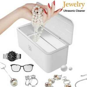 500ml Ultrasonic Jewelry Cleaner For Eyeglasses Rings Coins Watches Cleaning Us