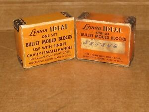Vintage Lyman Bullet Mold Block Boxes Lot of 2 BOXES ONLY $9.09