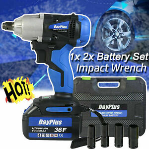 Cordless Impact Wrench 1 2 Electric Driver Ratchet Rattle Nut Gun Battery