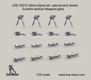 Live Resin 35012 1 35 Harris Bipod Set amp; Surefire Tactical Weapon Lights $10.99