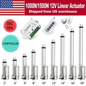 12v 2 18 Inch 220lb 330lbs Electric Linear Actuator Heavy Duty Putter Motor Us