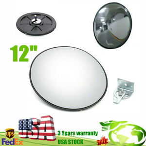 12 Traffic Convex Mirror Wide Angle Safety Mirror Driveway Outdoor Security30cm