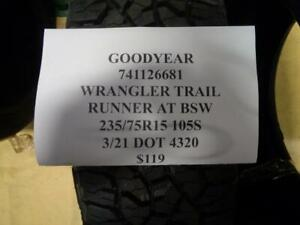 1 New Goodyear Wrangler Trail Runner At Bsw 235 75 15 105s Tire 741126681 Q1