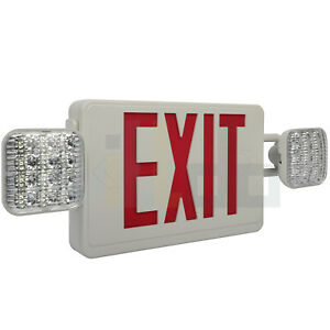 Led Emergency Exit Sign Light Ceiling Wall End Mount Square Dual Lights