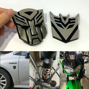 Car Styling Plastic 3d Car Stickers Cool Autobots Logo Transformers Badge New