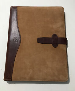Vintage Timberland Leather Folio Notebook Organizer Made In Usa