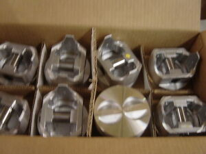 350 Chevy Flat Top Pistons Standard Bore Cast Set Of 8