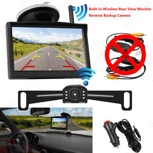 5 Inch Hd Tft Lcd Monitor With Built in 2 4ghz Wireless Kits Car Backup Camera