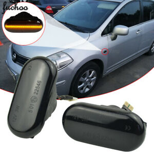 For Nissan Tiida C11 Frontier D40 Versa Dynamic Sequential Led Side Marker Light