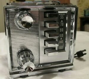 1959 1960 Mercury Am Push Button Radio With Face Plate Untested