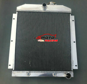 4 Core Aluminum Radiator For Chevy 3100 3600 3800 Truck Pickup L6 1947 1954 At