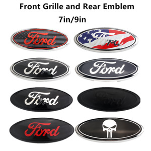 New Oem Front Grille rear Trunk Oval Emblem 7 9 Inch Fits Ford F150 F250 F350