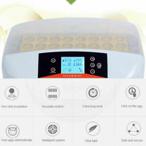 Digital Automatic 32 Egg Incubator Hatcher Turn Bird Chicken With Led Us