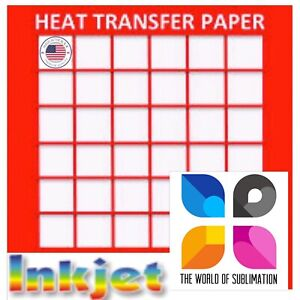 Inkjet Red Grid Light Colored T Shirt Heat Transfer Paper 8 5x11 50 Sheets 1