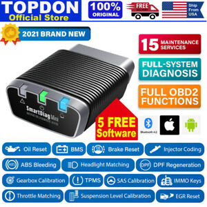 Obd2 Scanner Bluetooth All System Abs Srs Tpms Immo Oil Reset 5 Free Software