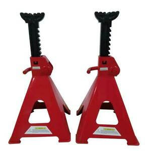 Set Of 12 Ton High Lift Jack Stands Pair Heavy Duty Car Auto Garage Tools