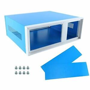 Yaeccc Electronic Enclosures Blue Metal Enclosure Project Case Diy Box Junction