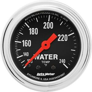 Autometer 2432 Trad Chrome Mechanical Water Temperature Gauge