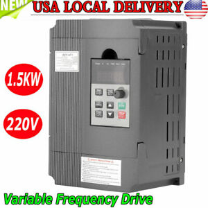 1 5kw Vfd Single Phase Motor Speed Control Variable Frequency Drive Inverter