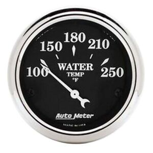 Autometer 1737 Old Tyme Black Air core Water Temperature Gauge