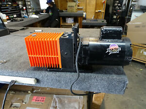 Alcatel Rotary Vane Dual 2 Two Stage Vacuum Pump Model 2008a Working Cond