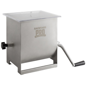 44 Lb 7 Gallon Stainless Steel Manual Meat Mixer With Removable Paddles