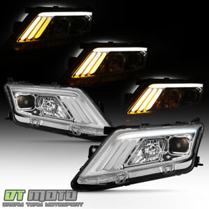 2010 2011 2012 Ford Fusion Led Sequential Signal Projector Headlights Headlamps
