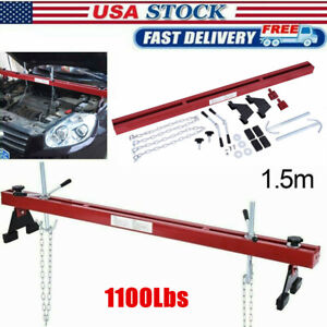 1100lbs Red Engine Load Leveler Support Bar Transmission W Dual Hook Heavy duty