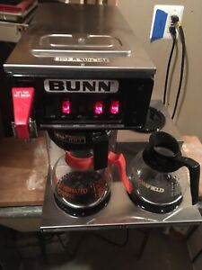 Bunn Ctf15 12 Cup Automatic Commercial Coffee Maker With 3 Warmers