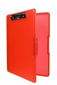 Dexas 3517 j101 Slimcase 2 Storage Clipboard With Side Opening Strawberry Red