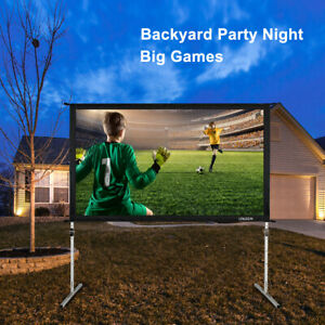 100 16 9 Projector Screen Portable In outdoor Movie Theater Projection W Stand