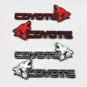 Coyote Fender Badges Ford Mustang Gt F150 Diecut All Metal