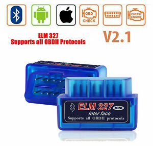 Elm327 Car Bluetooth Obd2 Code Reader Scanner Diagnostic Tool For Iphone Android