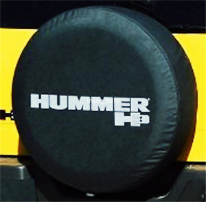 Spare Tire Cover 16inch For Hummer H3 Silver Logo Non reflection Heavy Vinyl New