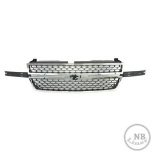 Ss Style Chrome Grille Honeycomb Insert For S 2003 2004 2005 2006 2007 Silverado