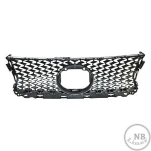 Gray Black Upper Front Grille Grill Fit 14 16 Lexus Is 200t 250 350 F Sport New