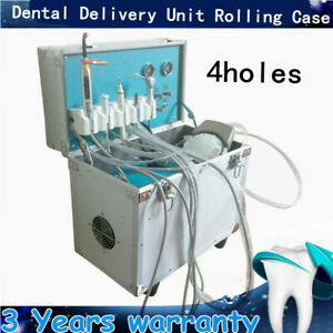 4h Portable Dental Delivery Treatment Cart Unit Mobile Air Compressor Equipment
