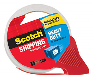 Scotch Heavy Duty Shipping Packaging Tape With Refillable Dispenser 3 Core X