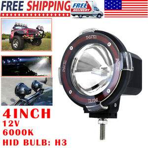 4inch Round Led Work Lights Bull Bar Fog Hid Xenon Driving Spot Lamp Offroad Suv