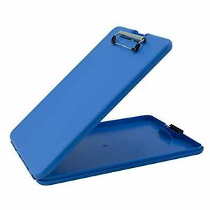Saunders Blue Slimmate Plastic Storage Clipboard Light Weight polypropylene