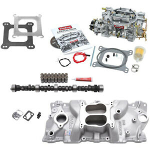 Edelbrock 1406 Performer Power Package W adptr Small Block Chevy