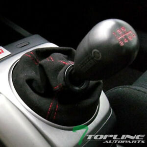 Topline For Oldsmobile Mt at Shifter Shift Boot Gear Cover Blk Suede Red Stitch