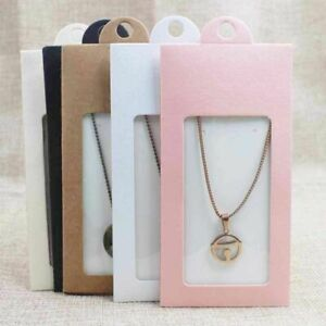 50pcs Various Gift Package Display Window Box Candy Box With Hanger Necklace