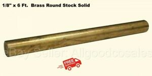 1 8 X 6 Ft Brass Round Stock Solid 72 Long Rod Mill Finish New
