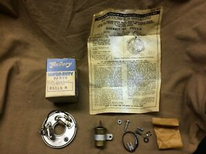 1953 1956 Buick Chevy V8 Distributor Nos Mallory Dual Point Breaker Plate Kit