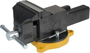 5 Inch Bench Vise Tools 20 000 Psi Casting Black Oxide Spindles And Handles