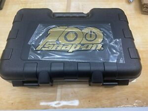 Snap on Tools Usa New 100th Anniversary 1 4 Drive 100 Pc Gold Edition Case Only