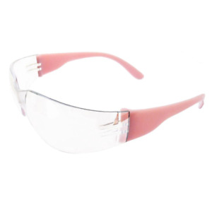 Safety Glasses Eye Protection Sized For Women Pink Frame clear Anti fog Lens