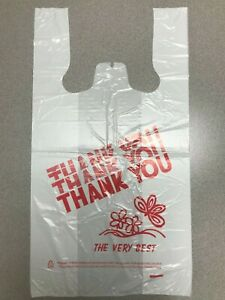 thank You Plastic T shirt Bag Retail Take out Produce Shopping