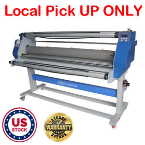 63 1600mm Full Auto Hot Cold Roll Laminator Machine Wide Format Laminating Us